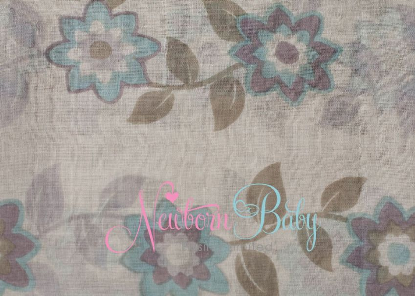 Pale Taupe Flower Wrap